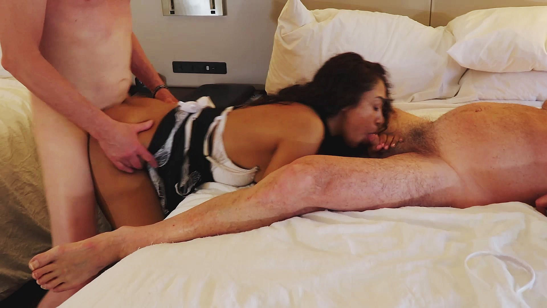 French maid get fuck