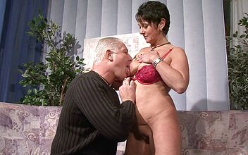 Gilf big boobs riding dick Brunette Gilf With Big Boobs Dildoing Pussy After Sucking And Riding Dick By Mature Climax Faphouse